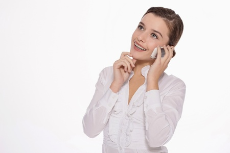 Businesswoman talking on the mobile phone Stock Photo - 9605258