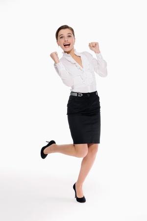cheer full: Businesswoman celebrating her success
