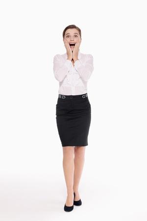 Businesswoman in shock photo