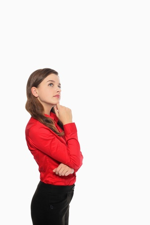 Businesswoman in deep thought photo