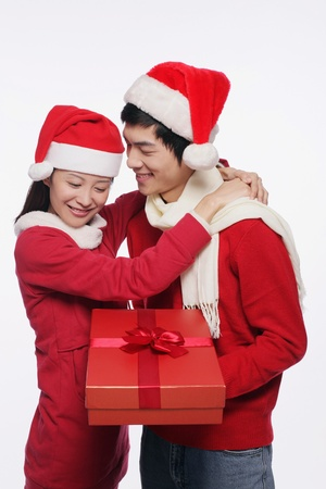 Man and woman with a gift Stock Photo - 9678803
