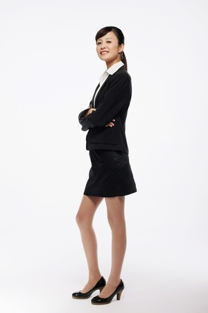 Businesswoman with her arm outstretched Stock Photo - 9678338
