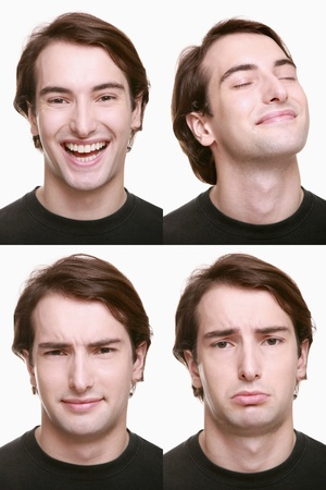 Montage of man pulling different expressions Stock Photo - 9901063