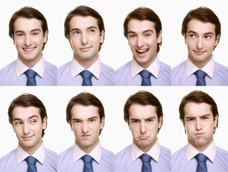 Montage of businessman pulling different expressions Stock Photo - 9901069