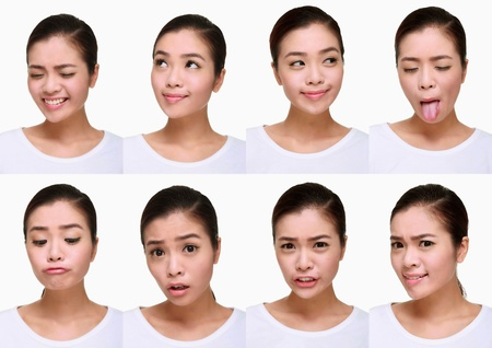 Montage of woman pulling different expressions Stock Photo - 9900911