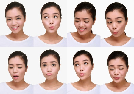 Montage of woman pulling different expressions Stock Photo - 9900922