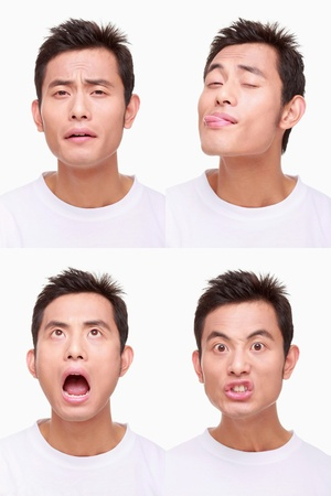 Montage of man pulling different expressions Stock Photo - 9900995