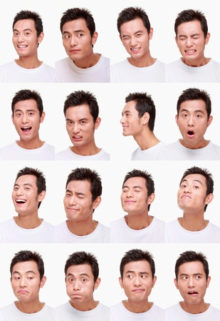annoyance: Montage of man pulling different expressions