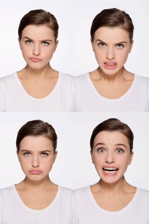 Montage of woman pulling different expressions Stock Photo - 9901065