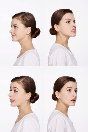Montage of woman pulling different expressions Stock Photo - 9900978