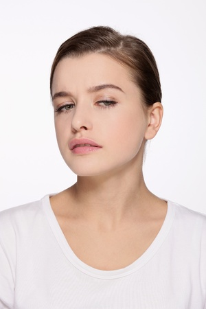 Woman with suspicious look Stock Photo - 9901068