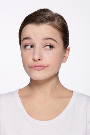 Woman with sideways glance Stock Photo - 9901071
