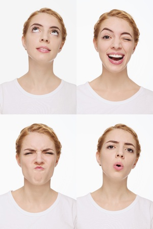 Montage of woman pulling different expressions Stock Photo - 9900927