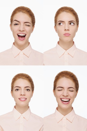 Montage of woman pulling different expressions Stock Photo - 9900901