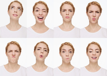 Montage of woman pulling different expressions Stock Photo - 9900962