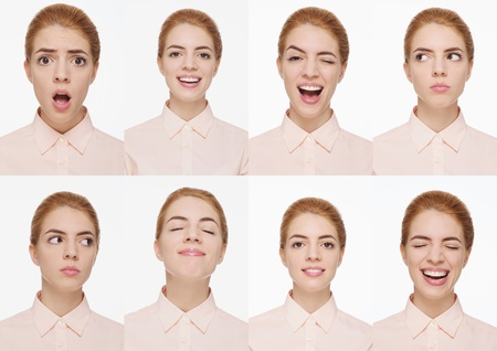 Montage of woman pulling different expressions Stock Photo - 9900934