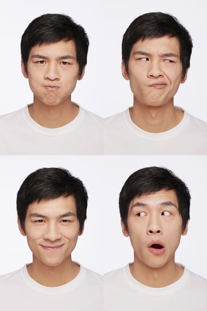 Montage of man pulling different expressions Stock Photo - 9957995
