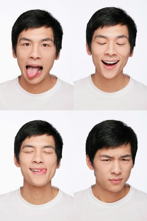 Montage of man pulling different expressions Stock Photo - 9957999