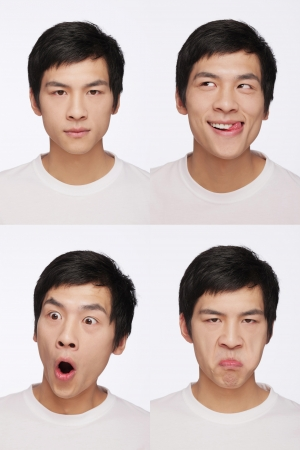 Montage of man pulling different expressions Stock Photo - 9957994