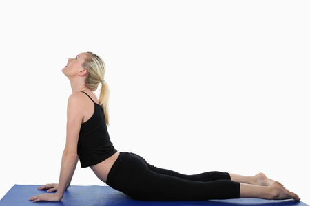 Woman practising yoga Stock Photo - 9900806