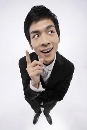 Businessman having an idea photo