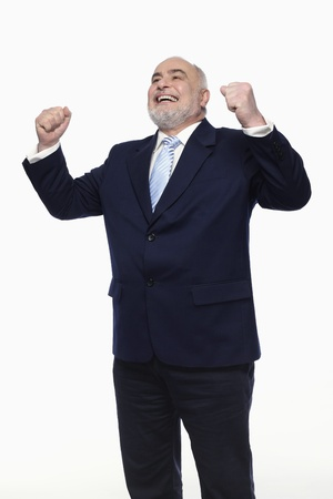 Businessman celebrating his success Stock Photo - 9957120