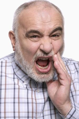 Man met kiespijn Stockfoto