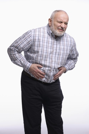 Man having a stomachache Stock Photo