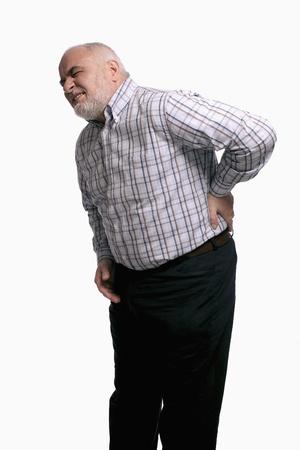 emotional pain: Hombre tener un dolor de espalda