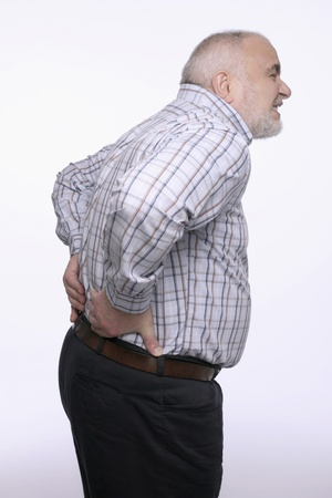 Man having a backache