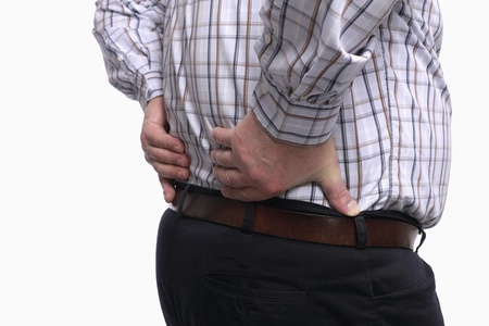 Man having a backache Stock Photo - 9956864