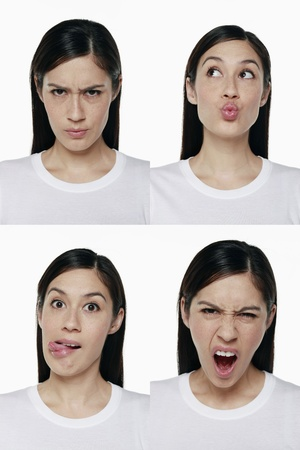 Montage of woman pulling different expressions Stock Photo - 9957592