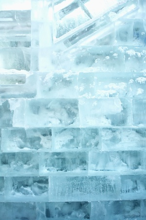 no snow: Ice bricks Stock Photo
