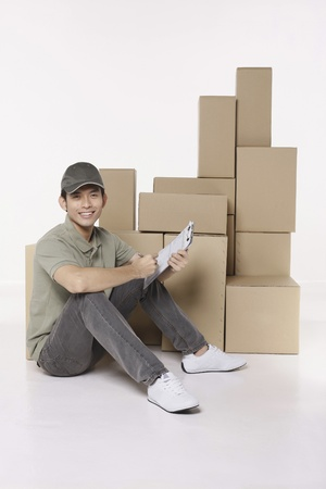 Man with checklist Stock Photo - 10057692