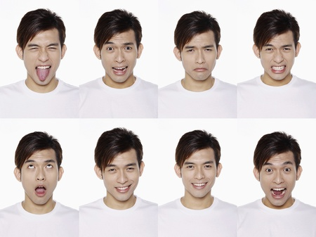 Montage of man pulling different expressions Stock Photo - 10057709