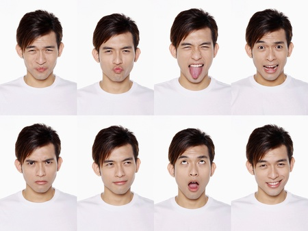 Montage of man pulling different expressions Stock Photo - 10057710