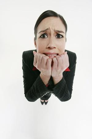 Businesswoman looking worried Stock Photo - 10572566