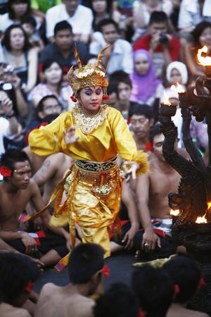 kecak: Bali, Indonesia - May 27 2011 : Performance of the famous Balinese Kecak dance Editorial