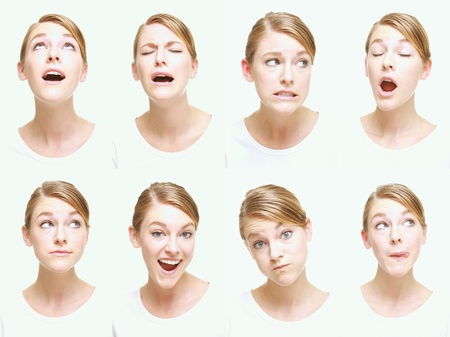 Montage of woman pulling different expressions Stock Photo - 13149225