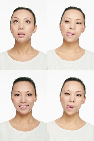 Montage of woman pulling different expressions Stock Photo - 13148465