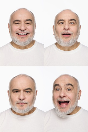 Montage of man pulling different expressions Stock Photo - 13148471