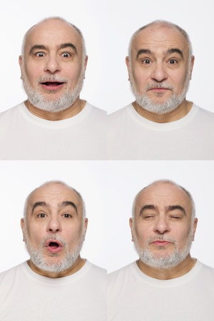 Montage of man pulling different expressions Stock Photo - 13148741