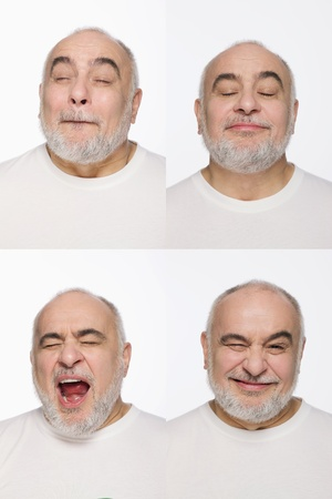 Montage of man pulling different expressions Stock Photo - 13148678