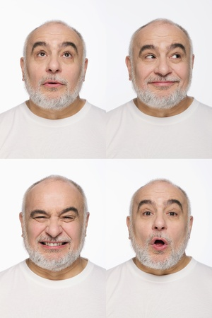 Montage of man pulling different expressions Stock Photo - 13148784