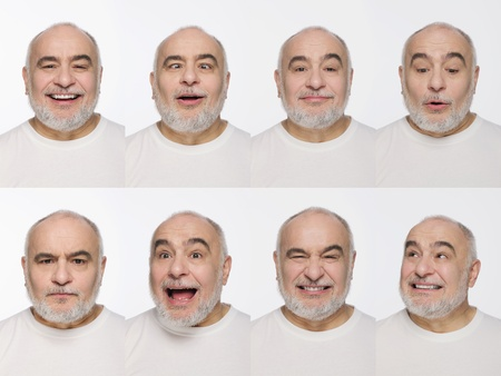 Montage of man pulling different expressions Stock Photo - 13148816