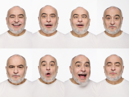 disbelief: Montage of man pulling different expressions