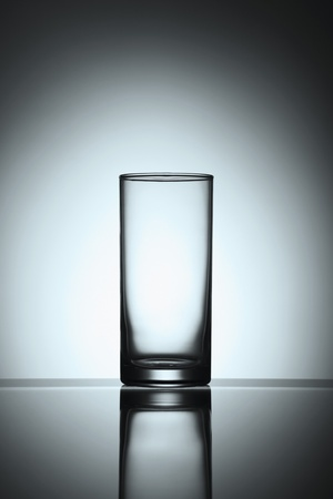 household objects: An empty glass