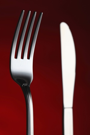 things that go together: Table knife and fork