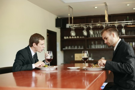 Businessmen having lunch at a restaurant Stock Photo - 13355827