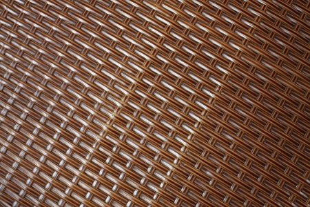 Close-up on a woven chair photo